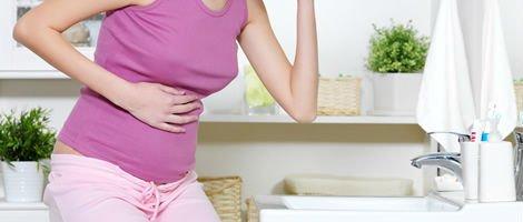 Náuseas, enjoos e vómitos como sintomas de uma gravidez